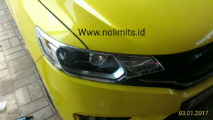 Garnish depan chrome all new jazz