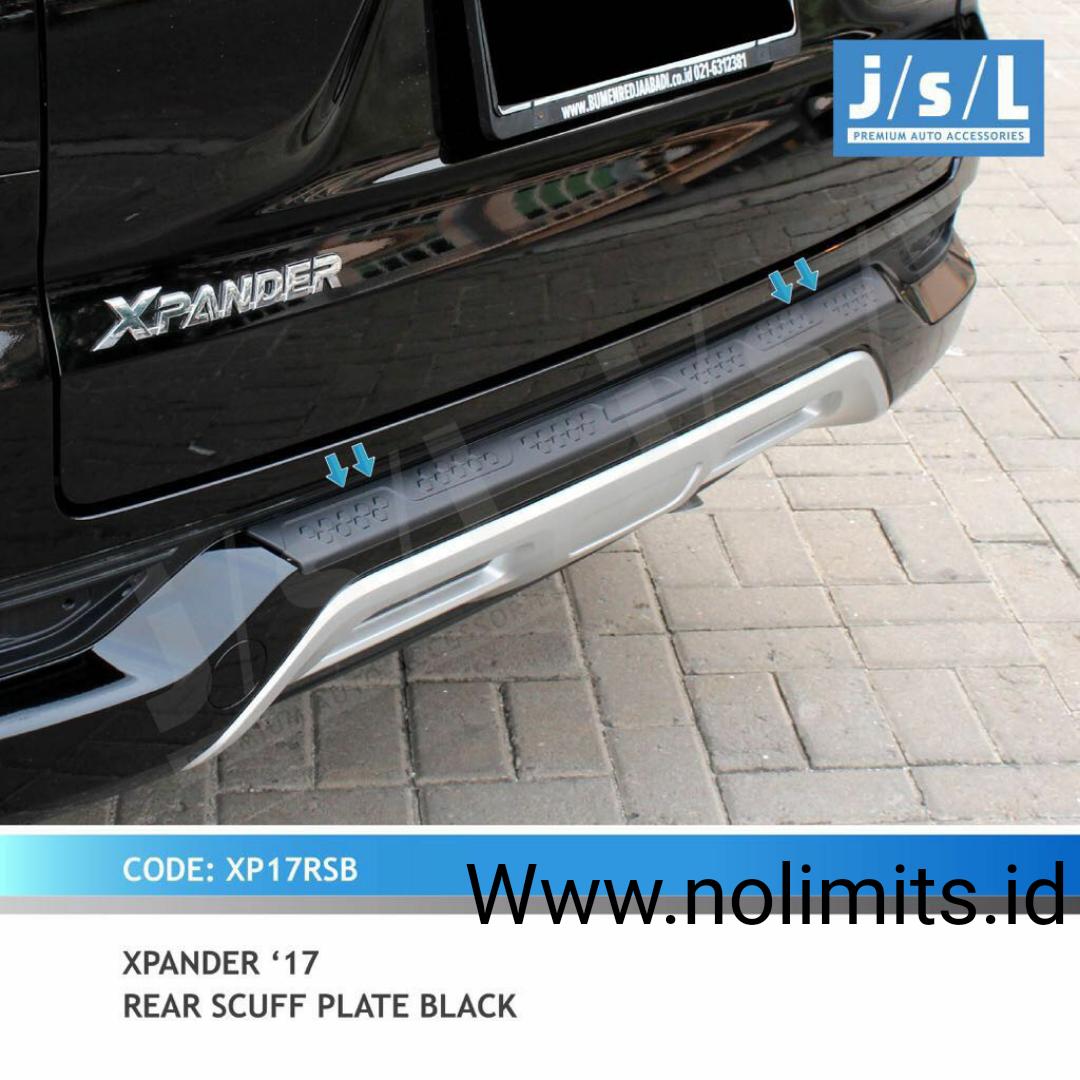 Sill Plate Belakang Rear Scuff Black Xpander No Limits Sillplate Scuffplate Veloz
